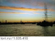 Белая ночь над Невой. Санкт-Петербург. (2009 год). Стоковое фото, фотограф Светлана Кудрина / Фотобанк Лори