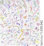 Купить «Абстрактный разноцветный фон на листе в клеточку», иллюстрация № 1039042 (c) Агата Терентьева / Фотобанк Лори