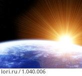 Купить «Земля и Солнце», иллюстрация № 1040006 (c) Лукиянова Наталья / Фотобанк Лори