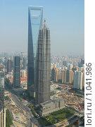 Купить «Шанхайские небоскребы», фото № 1041986, снято 28 мая 2009 г. (c) Марина Коробанова / Фотобанк Лори
