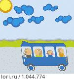 Купить «Автобус с пассажирами», иллюстрация № 1044774 (c) Денис Авданин / Фотобанк Лори