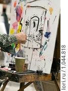 Купить «Работа уличного художника, Монмартр, Париж, Франция», фото № 1044818, снято 29 июля 2009 г. (c) Игорь Киселёв / Фотобанк Лори