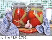 Купить «Консервирование овощей в домашних условиях», фото № 1046766, снято 3 августа 2009 г. (c) Оксана Белая / Фотобанк Лори