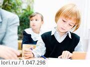 Купить «Ученик начальной школы», фото № 1047298, снято 20 августа 2009 г. (c) Евгений Захаров / Фотобанк Лори