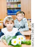 Купить «Ученица начальной школы», фото № 1047306, снято 20 августа 2009 г. (c) Евгений Захаров / Фотобанк Лори