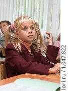 Купить «Девочка на уроке», фото № 1047822, снято 20 августа 2009 г. (c) Оксана Гильман / Фотобанк Лори