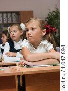 Купить «Дети в школе на уроке», фото № 1047894, снято 20 августа 2009 г. (c) Оксана Гильман / Фотобанк Лори