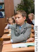 Купить «Дети в школе на уроке», фото № 1047898, снято 20 августа 2009 г. (c) Оксана Гильман / Фотобанк Лори
