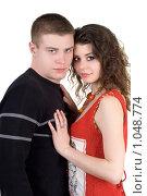 Купить «Влюбленная пара», фото № 1048774, снято 19 февраля 2009 г. (c) Сергей Сухоруков / Фотобанк Лори