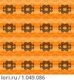 Купить «Оранжевый узорчатый фон», иллюстрация № 1049086 (c) Мария Симонова / Фотобанк Лори