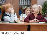 Купить «Первоклассники на уроке», фото № 1049162, снято 20 августа 2009 г. (c) Оксана Гильман / Фотобанк Лори