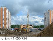 Купить «Строительство жилого комплекса в микрорайоне «1 Мая», Балашиха, Московская область», эксклюзивное фото № 1050754, снято 4 июня 2008 г. (c) lana1501 / Фотобанк Лори