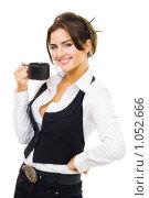 Купить «Девушка с чашкой кофе», фото № 1052666, снято 15 августа 2009 г. (c) Сергей Новиков / Фотобанк Лори
