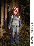 Купить «Девочка у забора в луче заходящего солнца», фото № 1053438, снято 20 августа 2009 г. (c) Никонор Дифотин / Фотобанк Лори