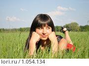 Купить «Девушка мечтает», фото № 1054134, снято 21 августа 2009 г. (c) Александр Гаврилов / Фотобанк Лори