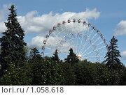 Купить «ВДНХ, Москва. Колесо обозрения», фото № 1058618, снято 16 августа 2009 г. (c) Корчагина Полина / Фотобанк Лори