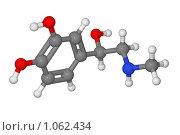 Купить «Шаростержневая модель молекулы адреналина», иллюстрация № 1062434 (c) Владимир Федорчук / Фотобанк Лори