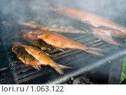 Купить «Рыба домашнего копчения», фото № 1063122, снято 13 июля 2009 г. (c) FotograFF / Фотобанк Лори