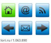 Купить «Набор иконок для веб», иллюстрация № 1063890 (c) Сергей Королько / Фотобанк Лори
