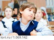 Купить «Ученик начальной школы», фото № 1069142, снято 20 августа 2009 г. (c) Евгений Захаров / Фотобанк Лори