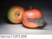 Купить «Яблоки и ключ», фото № 1071974, снято 5 сентября 2009 г. (c) Stepanuk Valera / Фотобанк Лори