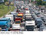 Купить «Пробка на дороге», фото № 1074042, снято 5 мая 2009 г. (c) Соловьев Владимир Александрович / Фотобанк Лори