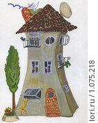 Купить «Трехэтажный домик», иллюстрация № 1075218 (c) Ольга Лерх Olga Lerkh / Фотобанк Лори
