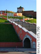 Чкаловская лестница в Нижнем Новгороде (2009 год). Редакционное фото, фотограф Галина Щурова / Фотобанк Лори