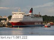 "Купить «Паром ""Viking Line""», фото № 1081222, снято 2 августа 2009 г. (c) Александр Секретарев / Фотобанк Лори"