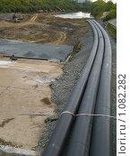 Купить «Реконструкция дамбы на реке Тобол», фото № 1082282, снято 5 сентября 2009 г. (c) Andrey M / Фотобанк Лори