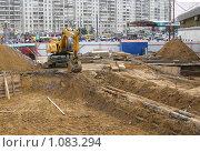 Купить «Строительные работы в городе», фото № 1083294, снято 6 сентября 2008 г. (c) Юлия Подгорная / Фотобанк Лори