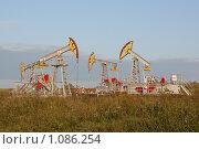 Купить «Нефтяные качалки», фото № 1086254, снято 12 августа 2009 г. (c) Павел Спирин / Фотобанк Лори