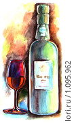 Бутылка. Стоковая иллюстрация, иллюстратор Светлана Бакланова / Фотобанк Лори