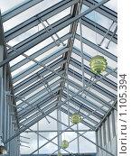 Прозрачная крыша (зенитный фонарь, световой купол) Стоковое фото, фотограф Александр Юркинский / Фотобанк Лори