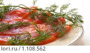 Форель, соленая красная рыба к столу. Стоковое фото, фотограф Александр Рюмин / Фотобанк Лори