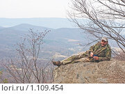 Купить «Отдых на вершине горы», фото № 1109454, снято 21 марта 2009 г. (c) Ирина Кожемякина / Фотобанк Лори