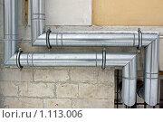 Купить «Водосточные трубы», фото № 1113006, снято 19 января 2009 г. (c) Parmenov Pavel / Фотобанк Лори