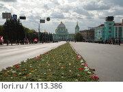 Купить «Рукотворный ковер к храму», фото № 1113386, снято 25 сентября 2009 г. (c) Александр Леденев / Фотобанк Лори
