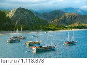 Яхты на море. Стоковое фото, фотограф Хижняк Екатерина / Фотобанк Лори