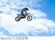Прыжок мотофристайлера (2009 год). Редакционное фото, фотограф Роман Борзенков / Фотобанк Лори