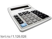 Купить «Калькулятор, изолированный на белом фоне», фото № 1126026, снято 18 сентября 2008 г. (c) Роман Бородаев / Фотобанк Лори
