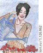 Купить «Цветовод. Рисунок», иллюстрация № 1126862 (c) Ольга Лерх Olga Lerkh / Фотобанк Лори