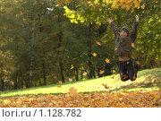 Купить «Мальчик прыгает», фото № 1128782, снято 3 октября 2009 г. (c) Юля Тюмкая / Фотобанк Лори
