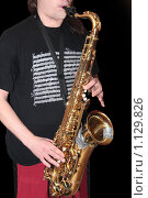 Купить «Саксофонист», фото № 1129826, снято 20 сентября 2009 г. (c) Дмитрий Верещагин / Фотобанк Лори