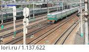 Поезда на железной дороге. Стоковое фото, фотограф Valeriy Novikov / Фотобанк Лори