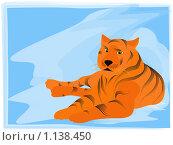 Купить «Тигр на снегу», иллюстрация № 1138450 (c) Елена Галачьянц / Фотобанк Лори