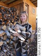 Купить «Заготовка дров», фото № 1138750, снято 2 октября 2009 г. (c) Мария Николаева / Фотобанк Лори