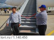 Вход в самолет Ту-154 VIP (2009 год). Редакционное фото, фотограф Алёшина Оксана / Фотобанк Лори