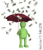 Купить «Денежный дождь», иллюстрация № 1146278 (c) Лукиянова Наталья / Фотобанк Лори