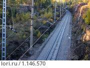 Купить «Железная дорога в Выборге», фото № 1146570, снято 10 октября 2009 г. (c) Наталья Белотелова / Фотобанк Лори
